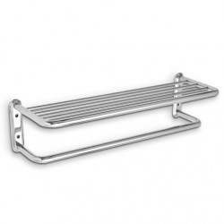 AJW UX148 Bright Chrome Surface Mounted Towel Shelf