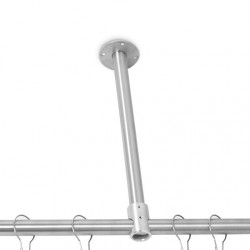 "AJW UX2-V18 1-1/4"" Diameter Vertical Shower Curtain Rod, 18""L"