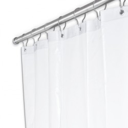 "AJW UX250 84"" Width x 72"" Height Shower Curtain - White Duck Fabric"