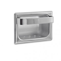 AJW UX80 Bright Chrome Recessed Soap Dish