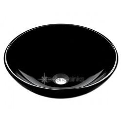 Polaris P106BL Black Colored Glass Vessel Sink