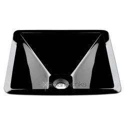 Polaris P306BL Black Colored Glass Vessel Sink