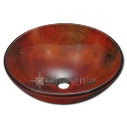 Polaris P416 Frosted Glass Vessel Sink