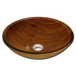 Polaris P826 Wood Grain Glass Vessel Bathroom Sink
