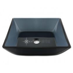 Polaris P036 Square Black Glass Vessel Sink