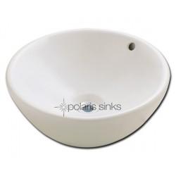 Polaris PV0022B Bisque Porcelain Vessel Sink