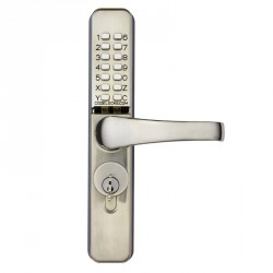 """Codelocks CL460 Mechanical Lock for Narrow Stile Doors,Finish- Stainless Steel, For Door Thickness-1-3/4"""" - 2-3/16"""""""