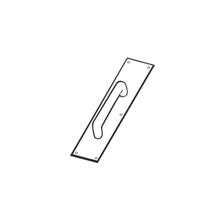 """Don-Jo 7017 Pull Plate W/3/4"""" Round Pull 10"""""""