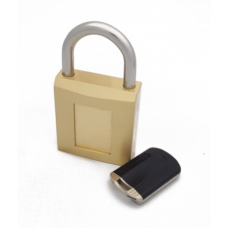 Capitol Magnetic Padlock with Stainless Steel Shackle and Brass Body