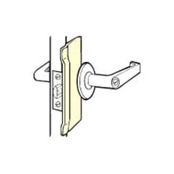 Don-Jo BLP-107 Latch Protectors, Satin Stainless Steel Finish