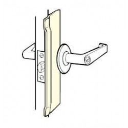 Don-Jo BLP-110 Latch Protectors, Satin Stainless Steel Finish