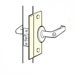 Don-Jo SLP-106 Latch Protector, Satin Stainless Steel Finish