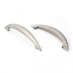 Capital Cabinet Hardware Satin Nickel Contemporary Metal Cabinet Handle Arch Design 96mm Drawer Pull