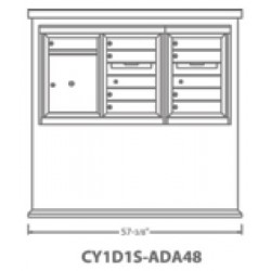 2B Global Contemporary Mailbox Kiosk CY1D1S-ADA48 (Mailbox Sold Separately)