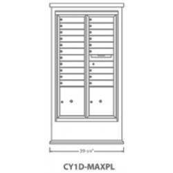 2B Global Contemporary Mailbox Kiosk CY1D-MaxPL (Mailbox Sold Separately)