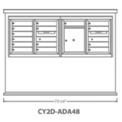2B Global Contemporary Mailbox Kiosk CY2D-ADA48 (Mailbox Sold Separately)