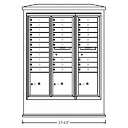 2B Global Suburban Mailbox Kiosk SN1D1S-MaxPL (Mailbox Sold Separately)