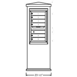2B Global Suburban Mailbox Kiosk SN1S-ADA54 (Mailbox Sold Separately)