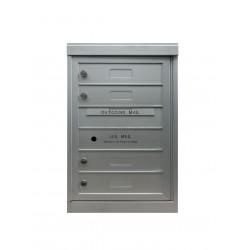 2B Global Commercial Mailbox 4 Single Height Tenant Door -ADA48 Series S4
