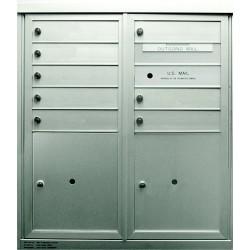 2B Global Commercial Mailbox 8 Single Height Tenant Door 2 Parcel Locker Door -ADA48EX Series D8P2