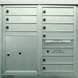 2B Global Commercial Mailbox 9 Single Height Tenant Door 1 Parcel Locker Door -ADA54 Series D9P1