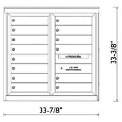 2B Global Commercial Mailbox 14 Single Height Tenant Door -ADA54 Series D14