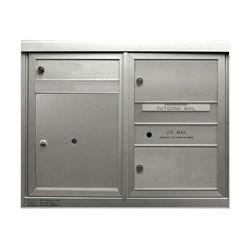 2B Global Commercial Mailbox 1 Single Height Tenant Door 2 Double Height Tenant Door 1 Parcel Locker Door -ADA48 Series D1D2P1