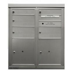 2B Global Commercial Mailbox 2 Single Height Tenant Door 3 Double Height Tenant Door 2 Parcel Locker Door -ADA48EX Series D2D3P2