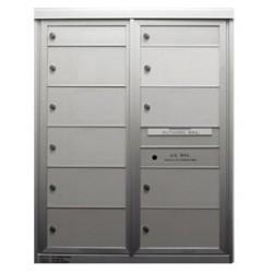 2B Global Commercial Mailbox 2 Single Height Tenant Door 9 Double Height Tenant Door -Max Series D2D9