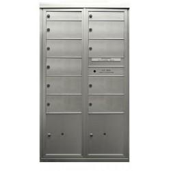 2B Global Commercial Mailbox 2 Single Height Tenant Door 9 Double Height Tenant Door 2 Parcel Locker Door -Max+PARCEL Series D2D