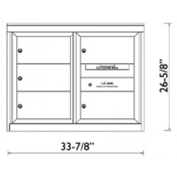 2B Global Commercial Mailbox 5 Double Height Tenant Door -ADA48 Series DD5