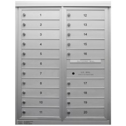 2B Global Commercial Mailbox 20 Single Height Tenant Door -Max Series D20