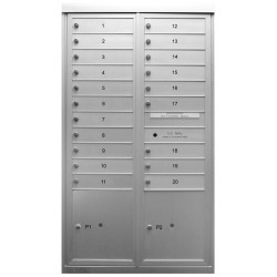 2B Global Commercial Mailbox 20 Single Height Tenant Door 2 Parcel Locker Door -Max+PARCEL Series D20P2