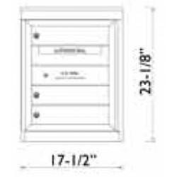 2B Global Commercial Mailbox 3 Single Height Tenant Door -Flex Series S3