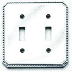 Omnia 8004-C Beaded Switchplate - Combination