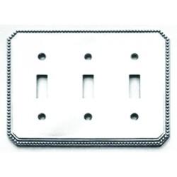 Omnia 8004-T Beaded Switchplate - Triple