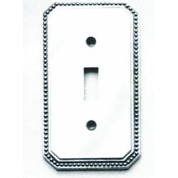 Omnia 8004-GFS Beaded Switchplate - Single w / GFCI