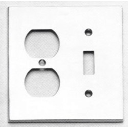 Omnia 8012-C Traditional Switchplate - Combination