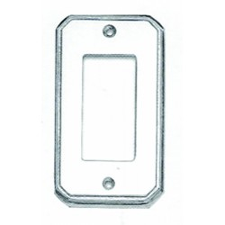 Omnia 8024-S Traditional Switchplate - Single Rocker Cutout