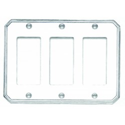 Omnia 8024-T Traditional Switchplate - Triple Rocker Cutout