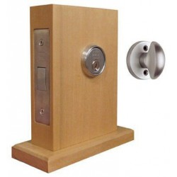 Omnia 041-N Traditional Mortise Deadlock - Standard Cylinder w/ Turnpiece