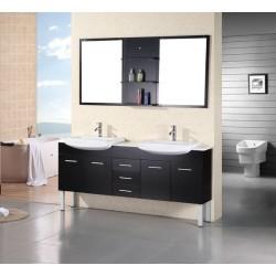 """Design Element Belini 72"""" Double Sink Vanity Set"""