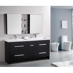 Design Element Perfecta 72' Double Sink Vanity Set (DEC079B)