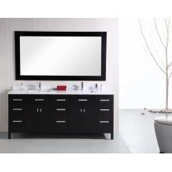 "Design Element London 78"" Double Sink Vanity Set"