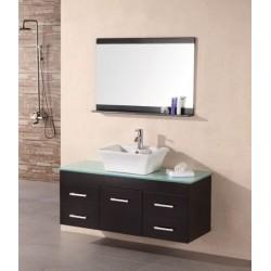 "Design Element Madrid 48"" Single Sink - Wall Mount Vanity Set"