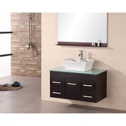 "Design Element Madrid 36"" Single Sink - Wall Mount Vanity Set"