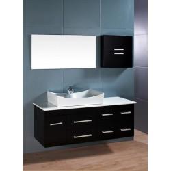 "Design Element Springfield 53"" Single Sink - Wall Mount Vanity Set"