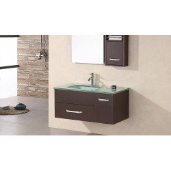 "Design Element Christine 35"" Single Sink - Wall Mount Vanity Set"