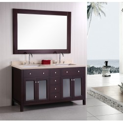 """Design Element Venetian 60"""" Double Sink Vanity Set"""