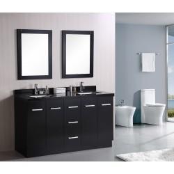 """Design Element Cosmo 60"""" Double Sink Vanity Set"""